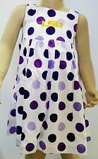 LSU Tigers Purple Polka Dot Toddler Girl Dress & Bloomers Set by Sara Lynn Togs