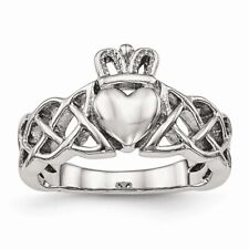 Chisel Polished Stainless Steel Claddagh Ring Size 6 to 9