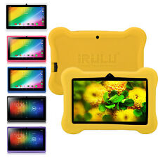 """iRULU 7""""8GB/16GB Tablet PC Quad Core Google Android 4.4 Pad Bundled Silicon Case"""