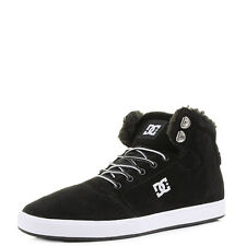 Mens DC Crisis High Black White Leather Simple Hi Top Skate Trainers Shu Size