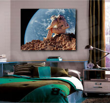 Astronaut Spaceman Planet Open Space Canvas Art Poster Print