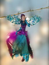 Gisela Graham Resin/Peacock Feather Fairy Decoration Sparkle Festive Christmas