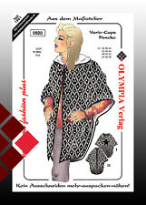 Sewing pattern,Vario-Cape,Poncho,Hood,Stand-up collar,Medium heavy,kein Cut out