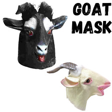 GOAT RUBBER MASK Latex Head Face Halloween Costume Party Animal Cosplay Sheep