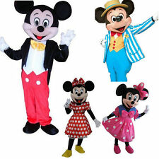 Lovely Mickey & Minnie Mouse Mascot Costume Fancy Dress Party Clothing Adult