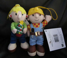 BOB THE BUILDER PLUSH SET OF TWO CHARACTERS IN BRAND NEW WITH ORIGINAL TAGS