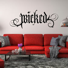 Wicked Vinyl Wall Decal Quote - removable Halloween witch gothic goth decor L204