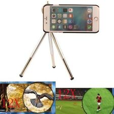 "For Iphone 7 4.7"" 5.5"" Plus 12X Zoom Telescope Camera Optical Lens+Case+ Tripod"