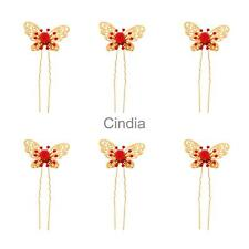 Set of 6 Fashion Headpiece Butterfly Hairpin Wedding Bridal Favour