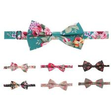 Fashion Men Bowtie Bow Tie Floral Flower Wedding Party Costume Adjustable 1