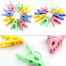 20PCS Plastic Laundry Clothes Pins Hangers Spring Clamp Clips Lot