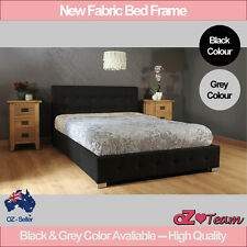 BED FRAME Fabric DELUXE DOUBLE QUEEN KING SIZE Bedding Mattress Optional