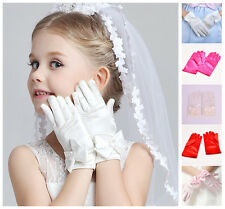Flower Girl Dress Prom Wedding Birthday bridesmaid girls' short gloves mittens