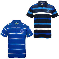 Everton Football Club Official Soccer Gift Mens Striped Polo Shirt