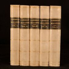 1829-1833 5vols The Cambrian Magazine Volumes I to V Welsh Literature Price