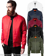 URBAN CLASSICS Men's Bomber Jacket Flight Bomber Jacket Harrington Jacket