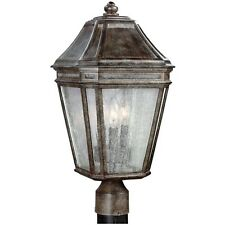 Feiss OL11308WCT Londontowne 3 Light Outdoor Post Lamp Weathered Chestnut