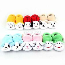 0-12 M Newborn Baby Kid Socks Shoes Boots Animal Cartoon Anti-Slip Slipper Shoes