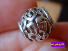 AUTH Pandora Openwork Swirls 925 ALE Sterling Silver Charm 790464 Discontinued