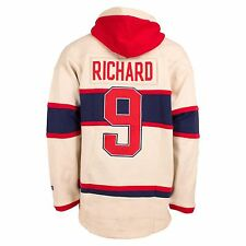 Montreal Canadiens Maurice Richard Vintage Heavyweight Jersey Lacer Hoodie