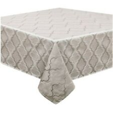 """Waterford MARQUIS QUATREFOIL OBLONG GREY TABLECLOTH 52"""" X 70"""" NEW"""