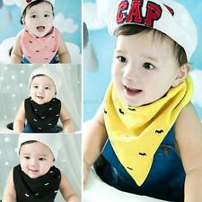 Double Layer Bibs Baby Kid Triangle Bibs Dribble Head Scarf Saliva Towel Bandana