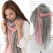 Womens Ladies Long Soft Chiffon Scarf Wrap Shawl Stole Winter Warm Silk Scarves