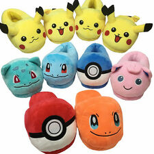 Pokemon Mens Womens Winter Warm Slippers Soft Anti-slip Indoor Home Shoes Flats