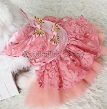 Small Pet Dog Cat Dress Clothes Chinese Cheongsam Costume Party Lace Tulle Skirt