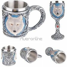 Resin Stainless Steel Insulated Drinkware 3D Wolf Head Cup/Mug Halloween Gifts