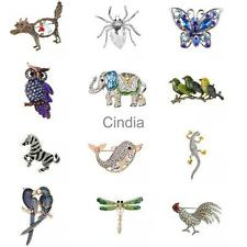 Novelty New Crystal Rhinestone Animal Brooch Pin Women Men Jewelry Gift