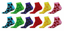 Multicolor Women's Socks Low Cut Cotton Blend Ankle Crew Sport Sock Size 8-10