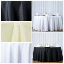 "6 pcs 108"" Round Premium Polyester Tablecloths Wedding Party Table Linens SALE"