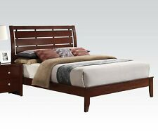 Brown Cherry Finish 1 Piece Queen/ Eastern King Size Bed Bedroom Furniture