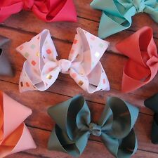 "5"" Hair Boutique Bows, interchangeable headband Neon Print Lot Big Bow chevron"