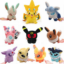 Pokemon Evolution of Eevee Pikachu Soft Stuffed Toy Plush Doll Figure Collection