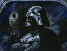 Star Wars Sith Lord Kim Gromoll LE 95 16x21 Canvas Signed Darth Vader Death Star
