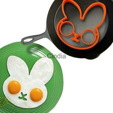 Kitchen Cooking Silicone Fried Oven Poacher Pancake Egg Poach Mold Ring