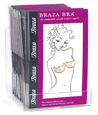 Braza Bra, beige stick on adhesive bra from Braza, A-DD, includes 5 pairs