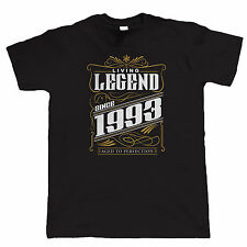 Legend Since 1993 Mens Funny T Shirt - Birthday Gift for Him Dad Grandad