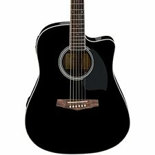 Ibanez PF Series PF15ECE Dreadnought Cutaway Acoustic-Electric Guitar Black