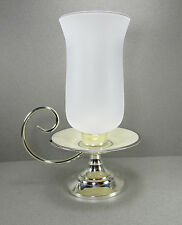 Lenox Solitaire Ivory China Tall Glass Hurricane Candle Holder Candleholder
