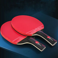 Carbon Fiber Training Table Tennis Racket Ping Pong Paddle Bat Two Styles Gifts