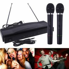 Professional Wireless Microphone System Dual Handheld 2 x Mic Receiver I6#
