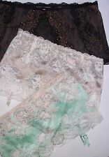 Victoria's Secret Bling Lace VERY SEXY Garter Skirt thong panty: S, M  NWT$48
