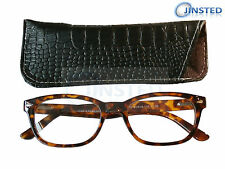 High Quality Leopard Print Reading Glasses Wayfarer Spectacles Swiss RG029
