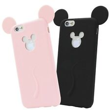 Candy Colors Colorful 3D Soft Mickey Mouse Ear Silicone Cartoon For iPhone 6 6S
