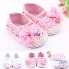 Cute Floral Toddler Baby Shoes Baby Girl Crochet Slippers Crib Prewalker Shoes