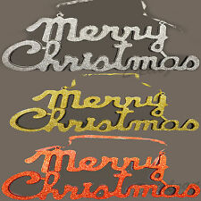 Home Decoration Glitter Merry Christmas Plaque Hanging Wall Door Welcome Sign
