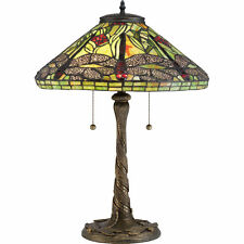 Quoizel TF2598T Two Light Table Lamp with Glass Shade